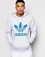 Худи Adidas, синий трилистник