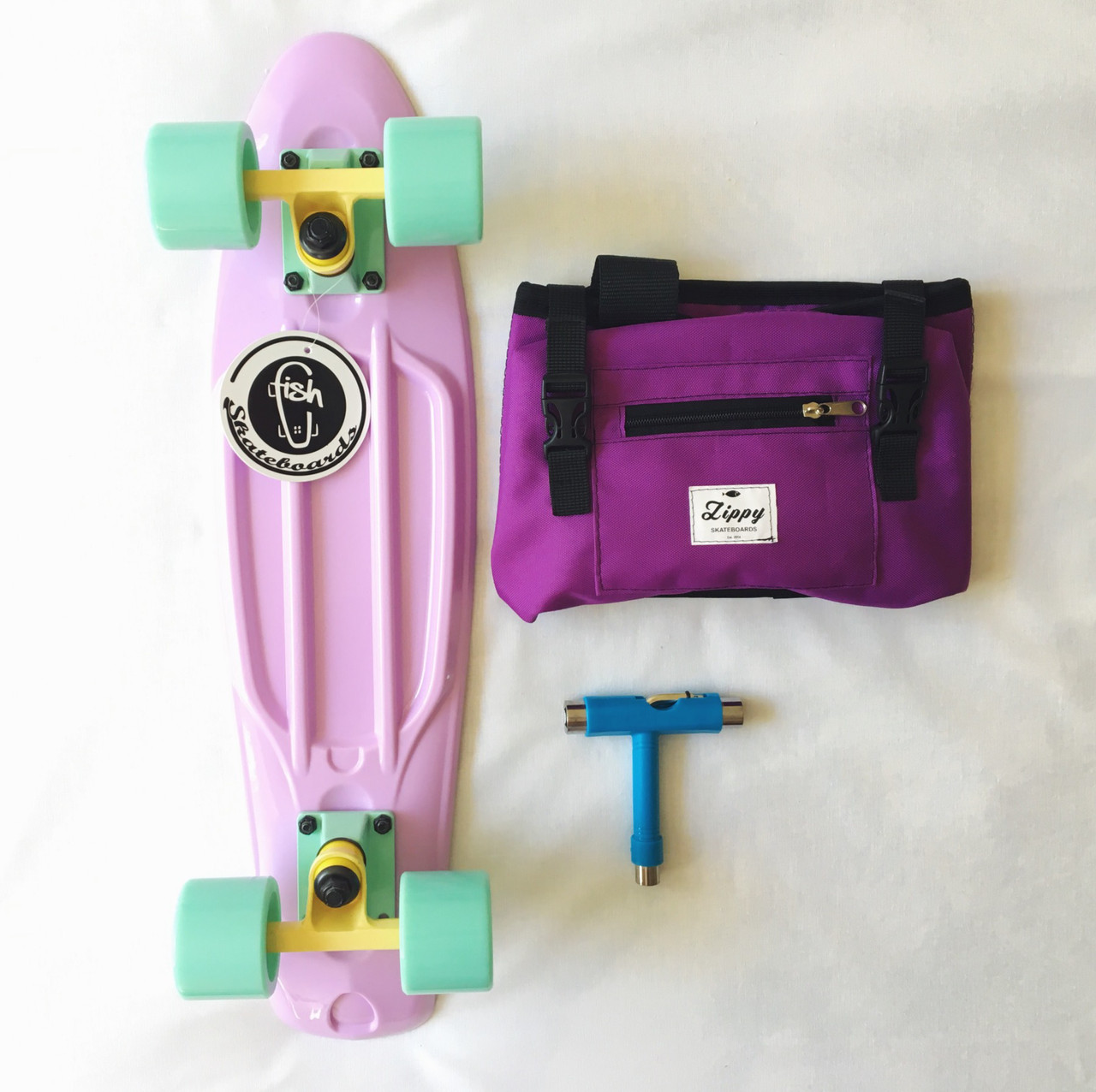 "Комплект Fish Skateboards 22.5"" Pastel - Лиловый"