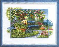 Набір для вишивки хрестом Чарівна Мить А-097 «У літньому саду»