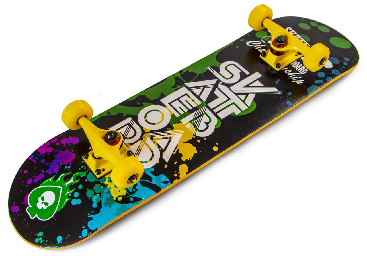 Скейт для трюков - SK8 - Yellow SKATE скейтборд трюковой