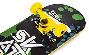 Скейт для трюков - SK8 - Yellow SKATE скейтборд трюковой, фото 2