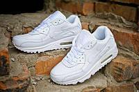 Кроссовки Nike Air Max 90 White Leather  , фото 1