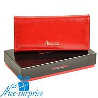 Женский кошелёк из натуральной кожи Alessandro Paoli W501 red, фото 1