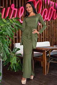 К692 Платье прямое в пол (размеры 44-54)