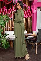 К692 Платье прямое в пол (размеры 44-54), фото 3