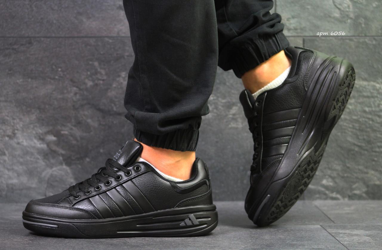 the best attitude e46ac 066b6 Мужские кроссовки Adidas ilie nastase кожаные черные (Реплика ААА+)