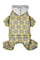 Костюм для собаки Pet Fashion Шарон XS, Длина спины 23-26 см, обхват груди 28-32 см (желтый или зел)