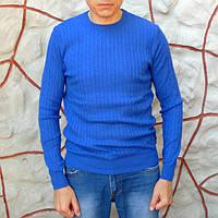 Джемпер мужской цвета электрик