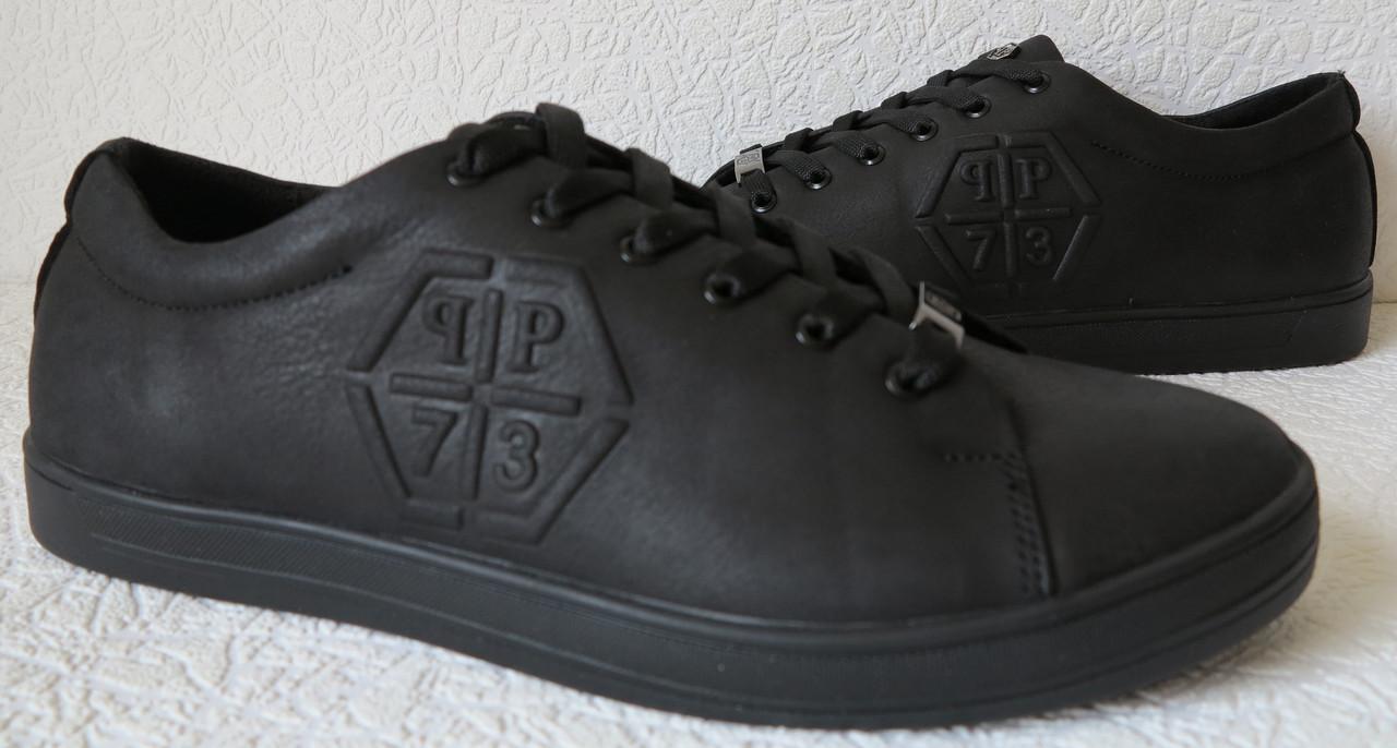Philipp Plein мужские кожаные туфли кеды слипоны Филипп Плэйн обувь реплика 2018
