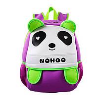 Дитячий Рюкзак Nohoo Фіолетова Панда 34х24х15 см (NH013-3-12)