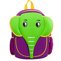 Детский Рюкзак NoHoo Слон Зелёно-Фиолетовый (NH012-1), фото 1