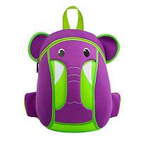 Детский Рюкзак NoHoo Фиолетовый Слоник (NH015-1), фото 1