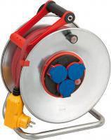 Удлинитель на катушке 40 метров; 3 розетки; H07RN-F 3G1,5; Bretec®; УЗО, фото 1