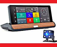 "DVR T7 Видеорегистратор на торпеду - 2 камеры / GPS  / 8""IPS Экран / 4Ядра / 8Gb / 1Gb Ram / Android, фото 1"