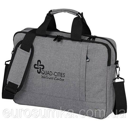 Сумка для ноутбука из меланжа через плечо от 50 шт. Печать логотипа.