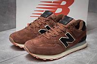 Кроссовки реплика мужские New Balance 574, коричневые (14106),  [  43 44  ], фото 1