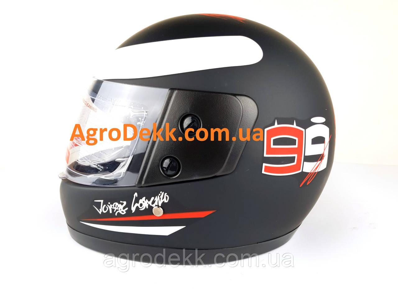 Шлем для мотоцикла F2 черный мат Глатиатор 99