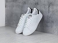Кроссовки Adidas Stan Smith White Black (Адидас Стен Смит белые с черной пяткой)