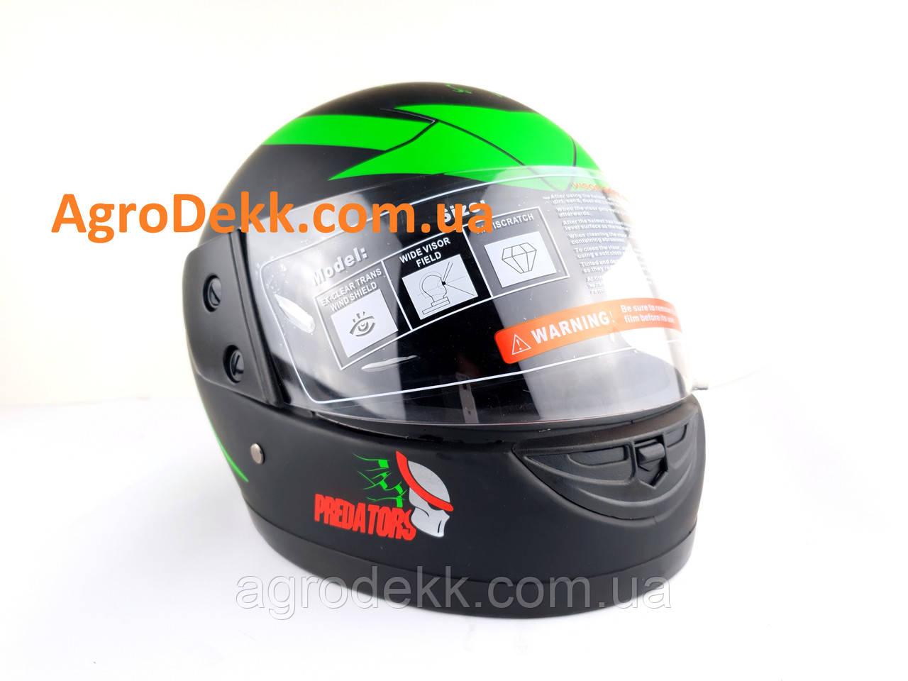 Шлем для мотоцикла F2 черный мат Predators