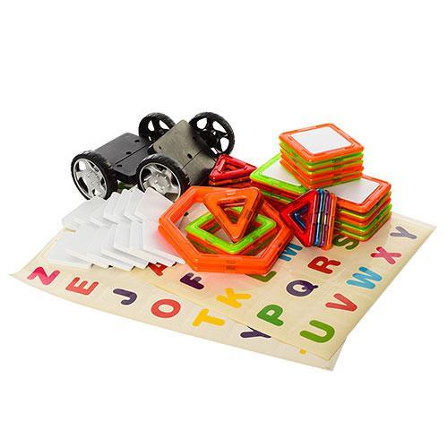 Конструктор Магнитный Magnetic Block транспорт машинки колеса буквы, 52 деталей, CXY004  (аналог MAGFORMERS)