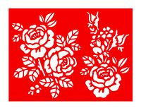 """Трафарет """"Букеты роз"""" (формат А5)"""