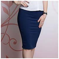 Копия Трикотажная тёмно-синяя юбка, фото 1