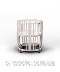 КРОВАТКА - ТРАНСФОРМЕР 9-В-1 SMART BED ROUND  Молочный