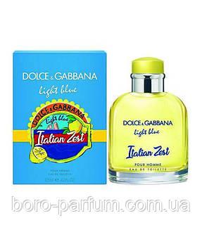 Туалетная вода Dolce&Gabbana Light Blue Italian Zest  для мужчин 125 мл