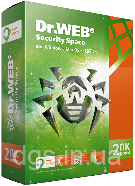 Dr. Web Security Space 2 ПК 24 месяца электронная лицензия