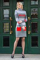 Платье вязанное Меланж, (7цв), теплое платье осеннее, дропшиппинг, фото 1