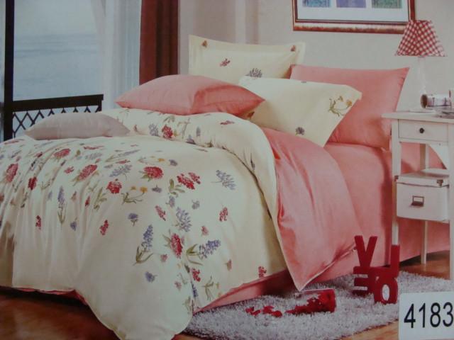 Сатиновое постельное белье полуторное ELWAY 4183