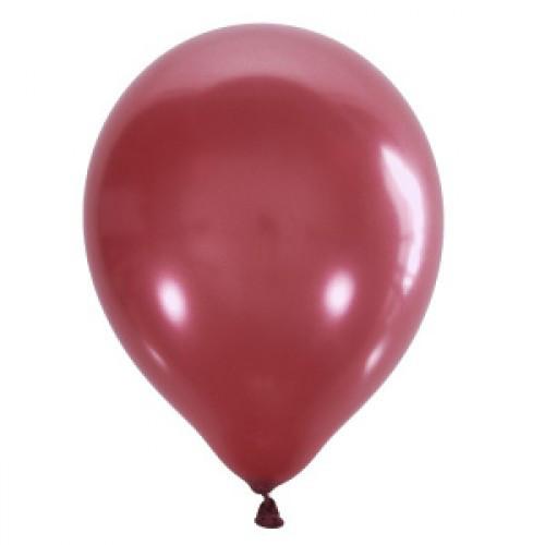 "Воздушный шар Мексика Latex Occidental 12"" (30 см) Металлик CHERRY RED 031 (100 шт)"