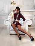 """Женское платье """"Гучи"""" со съемными рукавами-воланами (4 цвета), фото 3"""