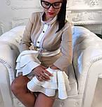 """Женское платье """"Гучи"""" со съемными рукавами-воланами (4 цвета), фото 5"""