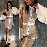 """Женское платье """"Гучи"""" со съемными рукавами-воланами (4 цвета), фото 6"""