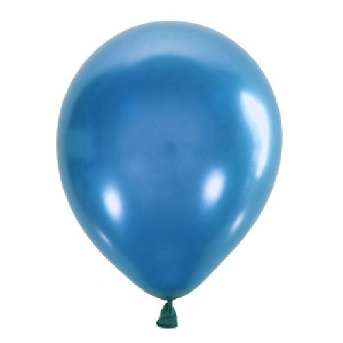 "Воздушный шар Мексика Latex Occidental 12"" (30 см) Металлик BLUE 022 (100 шт)"