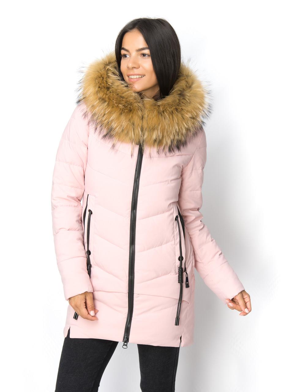 2c2ff4fc2a2 Молодежная женская куртка с мехом енота представлен в каталоге ...