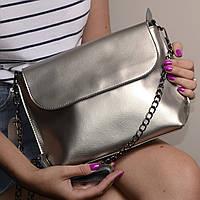 "Женская кожаная сумка ""Патрисия  Silver"", фото 1"