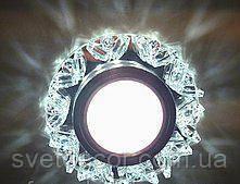 Точечный светильник z-light 088 с led подсветкой (стекло)