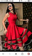 Платье из габардина Ванесса красное  р 42,44,46,48,50,52