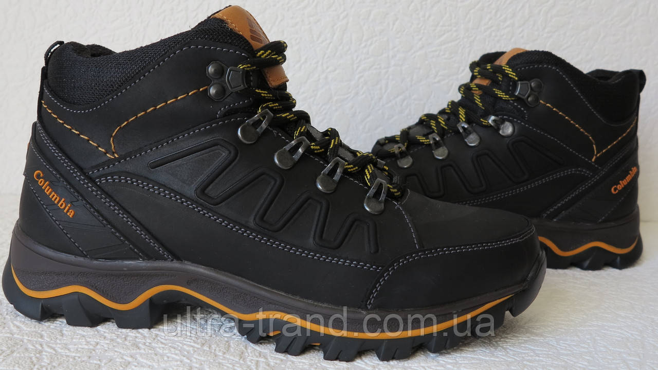 837a390d4c2a Columbia детские подростковые кожаные зимние ботинки с мехом реплика  Коламбия черные