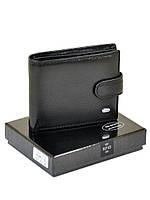 Кожаный мужской кошелек с защитой от считывания данных Dr Bond RFID, на кнопке