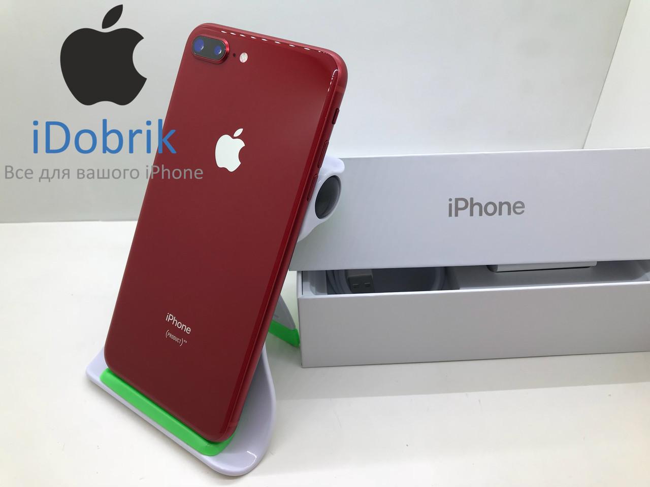 Телефон Apple iPhone 8 Plus 256gb  Product RED  Neverlock  9/10
