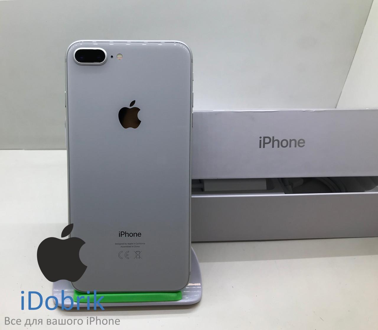 Телефон Apple iPhone 8 Plus 64gb  Silver  Neverlock  9/10