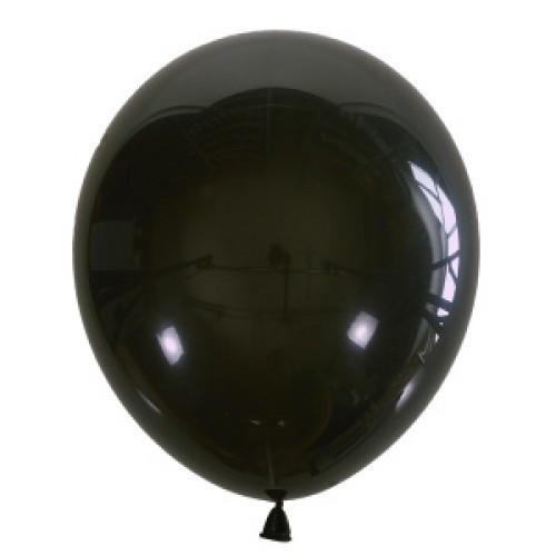 "Воздушный шар Мексика Latex Occidental 12"" (30 см) Декоратор BLACK 048 (100 шт)"