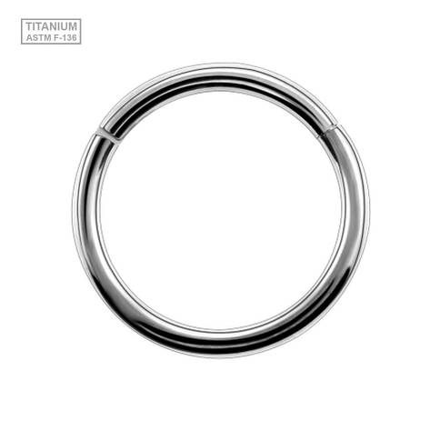 Кольцо сегментное кликер титан серебристый, фото 2