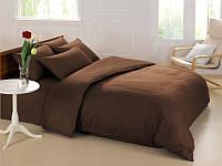 Постельное белье Love you полисатин двухспальное Евро цвет коричневый, 200*220 см, 6 предметов