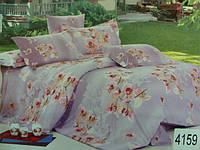 Сатиновое постельное белье полуторка ELWAY 4159