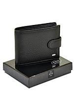 Кожаный мужской кошелек защита от считывания данных + зажим для денег DR. BOND RFID