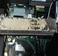 Чистка ноутбука от пыли.